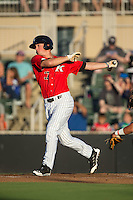 Cody Daily (37) of the Kannapolis Intimidators at bat against the Greensboro Grasshoppers at CMC-Northeast Stadium on August 1, 2015 in Kannapolis, North Carolina.  The Intimidators defeated the Grasshoppers 7-4.  (Brian Westerholt/Four Seam Images)