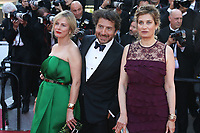 KARIN VIARD, EDOUARD BAER AND EMMANUELLE DEVOS - RED CARPET OF THE 70TH ANNIVERSARY CEREMONY AT THE 70TH FESTIVAL OF CANNES 2017