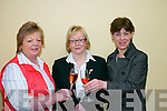 CHEERS: Attending the Fashion Course in the Ring of Kerry Hotel in Cahersiveen on Sunday last, from l-r: Rose Keating, Cahersiveen, Irene Wharton, Waterville, and Kathleen Lyons, Cahersiveen..