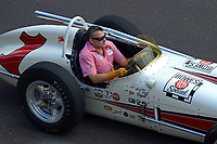 Verizon IndyCar Series<br /> Indianapolis 500 Race<br /> Indianapolis Motor Speedway, Indianapolis, IN USA<br /> Sunday 28 May 2017<br /> Tony Stewart drives A. J. Foyt's 1961 Indy 500 winning car during pre-race.<br /> World Copyright: F. Peirce Williams<br /> LAT Images