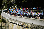 The peloton during Stage 6 of Tour de France 2020, running 191km from Le Teil to Mont Aigoual, France. 3rd September 2020.<br /> Picture: ASO/Pauline Ballet | Cyclefile<br /> All photos usage must carry mandatory copyright credit (© Cyclefile | ASO/Pauline Ballet)