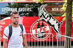 20.07.2019, Heinz-Dettmer-Stadion, Lohne, GER, Interwetten Cup, VfL Osnabrueck vs 1. FC Koeln<br /> <br /> im Bild<br /> Louis Schaub (Neuzugang Koeln #13), <br /> bei Ankunft am Stadion, <br /> <br /> Foto © nordphoto / Ewert