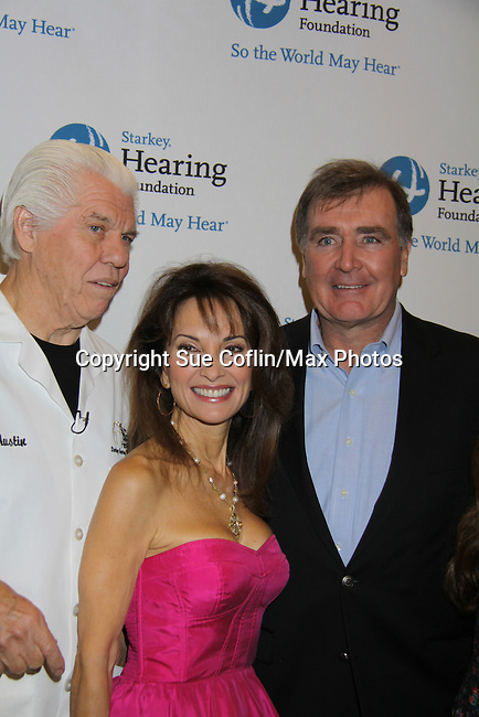 Susan Lucci and Foundation founders Bill Austin at the Starkey Hearing Foundation event on June 18, 2011 at the Las Vegas Hilton, Las Vegas, Nevada. (Photo by Sue Coflin/Max Photos)