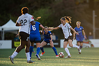 Seattle, WA - April 15th, 2017: Sarah Killion during a regular season National Women's Soccer League (NWSL) match between the Seattle Reign FC and Sky Blue FC at Memorial Stadium.