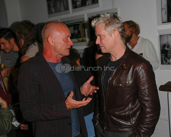 New York, NY - September 22 : Musician Sting and Musician and Composer Chris Botti attend Blondie's 40th Anniversary Exhibition Hosted by Jeffrey Deitch held at the Chelsea Hotel Storefront Gallery on September 22, 2014 in New York City. (Photo by Brent N. Clarke / MediaPunch)
