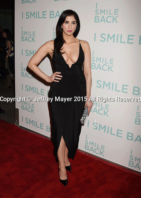 HOLLYWOOD, CA - OCTOBER 21: Actress Sarah Silverman arrives at the premiere of Broad Green Pictures' 'I Smile Back' at ArcLight Cinemas on October 21, 2015 in Hollywood, California.