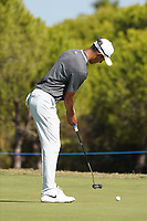 Jack Singh Brar (ENG) during Round 3 of the Portugal Masters, Dom Pedro Victoria Golf Course, Vilamoura, Vilamoura, Portugal. 26/10/2019<br /> Picture Andy Crook / Golffile.ie<br /> <br /> All photo usage must carry mandatory copyright credit (© Golffile   Andy Crook)