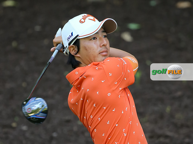 24 JUN 15   Ryo Ishikawa enjoying the Wednesday Pro Am at The Travelers Championship at TPC River Highlands in Cromwell,Ct. . (photo credit : kenneth e. dennis/kendennisphoto.com)