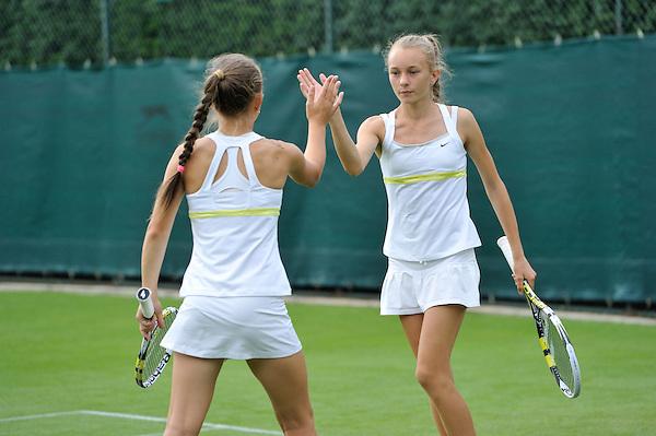 HSBC Road to Wimbledon 2013. Ola Pitak & Kasia Pitak