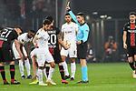 08.11.2018, BayArena, Leverkusen, Europaleque, Vorrunde, GER, UEFA EL, Bayer 04 Leverkusen (GER) vs. FC Zuerich (SUI),<br />  <br /> DFL regulations prohibit any use of photographs as image sequences and/or quasi-video<br /> <br /> im Bild / picture shows: <br /> Dominik Kohr (Leverkusen #21), sieht gelb f&uuml;r eine Schwalbe <br /> <br /> Foto &copy; nordphoto / Meuter<br /> <br /> <br /> <br /> Foto &copy; nordphoto / Meuter