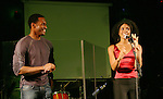 Guiding Light's Lawrence Saint Victor and Karla Mosley perform (Lawrence dances and Karla sings) at the 5th Annual Rock show for charity to benefit the American Red Cross on October 9, 2009 at the American Red Cross Headquarters, New York City, New York. (Photos by Sue Coflin/Max Photos)