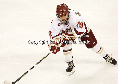 Danielle Doherty (BC - 19) - The Boston College Eagles defeated the visiting Harvard University Crimson 6-2 on Sunday, December 5, 2010, at Conte Forum in Chestnut Hill, Massachusetts.