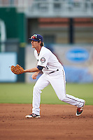 Fort Myers Miracle second baseman Ryan Walker (7) during a game against the Brevard County Manatees on April 13, 2016 at Hammond Stadium in Fort Myers, Florida.  Fort Myers defeated Brevard County 3-0.  (Mike Janes/Four Seam Images)