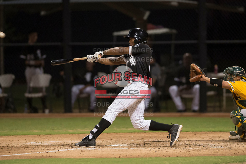 AZL White Sox third baseman Bryce Bush (61) at bat during an Arizona League game against the AZL Athletics at Camelback Ranch on July 15, 2018 in Glendale, Arizona. The AZL White Sox defeated the AZL Athletics 2-1. (Zachary Lucy/Four Seam Images)