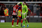 Dean Henderson of Sheffield United celebrates after the Premier League match at Bramall Lane, Sheffield. Picture date: 10th January 2020. Picture credit should read: James Wilson/Sportimage