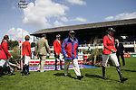 August 07, 2009: The US team walk the course prior to competition. Meydan FEI Nations Cup. Failte Ireland Horse Show. The RDS, Dublin, Ireland.