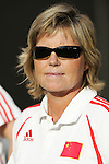 16 June 2007: China head coach Marika Domanski-Lyfors. The United States Women's National Team defeated the Women's National Team of China 2-0 at Cleveland Browns Stadium in Cleveland, Ohio in an international friendly game.