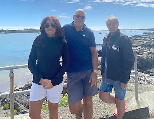 SCORA's Fastnet 450 team are Johanna Murphy (Commodore), Mark Mansfield, and Annamarie Murphy (Rear Admiral, Royal Cork YC