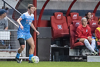 Bridgeview, IL - Saturday July 23, 2016:  Chicago Red Stars defender Arin Gilliland (3) during a regular season National Women's Soccer League (NWSL) match between the Chicago Red Stars and the Houston Dash at Toyota Park.