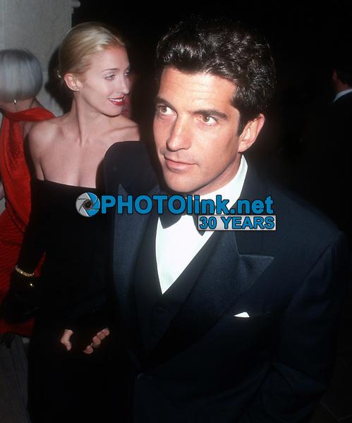 John F. Kennedy, Jr, Carolyn Kennedy, 1998, Photo By John Barrett/PHOTOlink