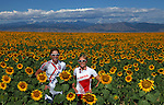 BOULDER, CO - AUGUST 5:  Professional Triathletes Julie Dibens of Great Britain and Mirinda Carfrae of Australia posr for a portrait on August 5 2010 in Boulder, Colorado. (Photo by Donald Miralle) *** Local Caption ***