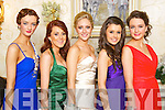 HERE COME THE GIRLS: Pictured at the Mounthawk Debs at the Abbeygate on Thursday night are from l-r: Niamh Comerford, Maureen McCarthy, Kristin McKenzie, Aisling Collins and Emer Collins.