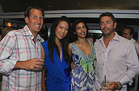 Mike Mueller, Francine Li, Ricu Udani and Mike Boelker attend The Friends of Finn by the Shore party at Finale East on Aug. 2, 2014 (Photo by Taylor Donohue/Guest of a Guest)