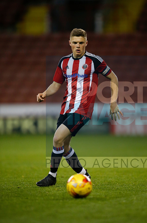 Regan Slater of Sheffield Utd during the U18 Professional Development League 2 play off semi final match at  Bramall Lane, Sheffield. Picture date: April 21st 2017. Pic credit should read: Simon Bellis/Sportimage