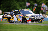 Aug. 7, 2009; Watkins Glen, NY, USA; NASCAR Sprint Cup Series driver Ryan Newman during practice for the Heluva Good at the Glen. Mandatory Credit: Mark J. Rebilas-