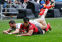 Malakai Fekitoa of Toulon scores a try during the Top 14 match between Toulon and Toulouse at Felix Mayol Stadium on April 6, 2019 in Toulon, France. (Photo by Wallis/Icon Sport)