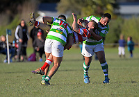 Action from the Wairarapa Bush premier club rugby union match between Marist and East Coast at Memorial Park in Masterton, New Zealand on Saturday, 11 July 2020. Photo: Dave Lintott / lintottphoto.co.nz