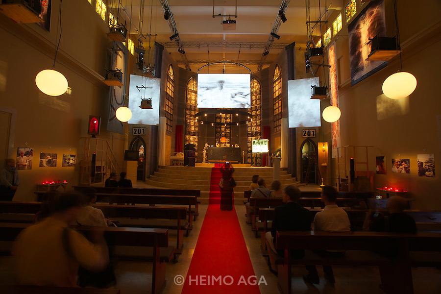 "54th Biennale of Venice..ILLUMInazioni - ILLUMInations.Giardini, German Pavillion.Christoph Schlingensief, ""Kirche der Angst vor dem Fremden in mir"", 2011."