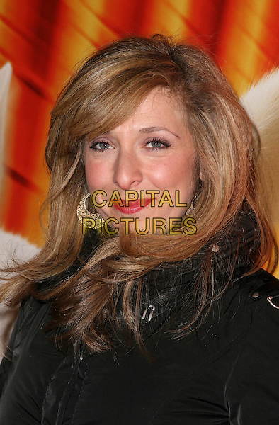 "TRACY ANN OBERMAN .VIP Screening of ""Bolt 3D"" at Cineworld, Haymarket, London, England,.February 1st 2009..portrait headshot  tracey anne straight hair  lipstick gold earrings .CAP/JIL.©Jill Mayhew/Capital Pictures"