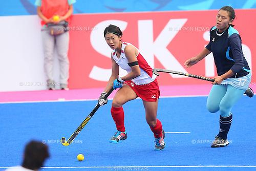 Kana Nomura (JPN), <br /> SEPTEMBER 26, 2014 - Hockey : <br /> Women's Preliminary <br /> between Kazakhstan Women's 0-8 Japan Women's <br /> at Seonhak Hockey Stadium <br /> during the 2014 Incheon Asian Games in Incheon, South Korea. <br /> (Photo by YUTAKA/AFLO SPORT)