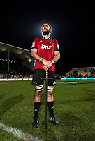 Crusaders captain Sam Whitelock holds a sword following the 2018 Super Rugby final between the Crusaders and Lions at AMI Stadium in Christchurch, New Zealand on Sunday, 29 July 2018. Photo: Joe Johnson / lintottphoto.co.nz
