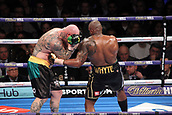 24th March 2018, O2 Arena, London, England; Matchroom Boxing, WBC Silver Heavyweight Title, Dillian Whyte versus Lucas Browne; Dillian Whyte lands a body shot to Lucas Browne