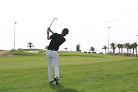 Marcus Kinhult (SWE) on the 15th during Round 3 of the Saudi International at the Royal Greens Golf and Country Club, King Abdullah Economic City, Saudi Arabia. 01/02/2020<br /> Picture: Golffile | Thos Caffrey<br /> <br /> <br /> All photo usage must carry mandatory copyright credit (© Golffile | Thos Caffrey)