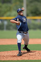Tampa Bay Rays pitcher Michael Velasquez (76) during an Instructional League game against the Pittsburgh Pirates on September 27, 2014 at Charlotte Sports Park in Port Charlotte, Florida.  (Mike Janes/Four Seam Images)