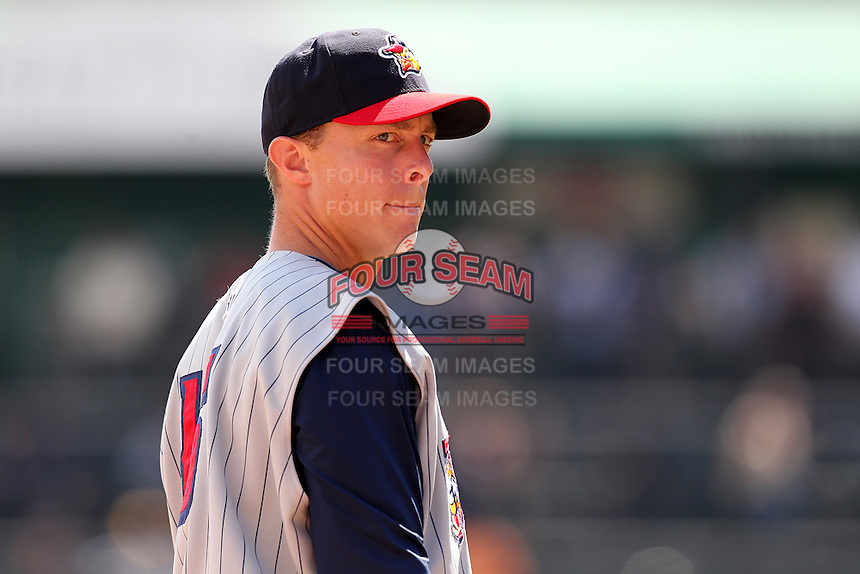 Toledo Mudhens third baseman Brandon Inge #15 during a game against the Buffalo Bisons at Coca-Cola Field on August 17, 2011 in Buffalo, New York.  Buffalo defeated Toledo 4-2.  (Mike Janes/Four Seam Images)