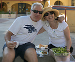 Rick and Sandy Shaff during the Feed the Camel food truck night at the McKinley Arts Center in Reno on Wednesday, June 28, 2017.