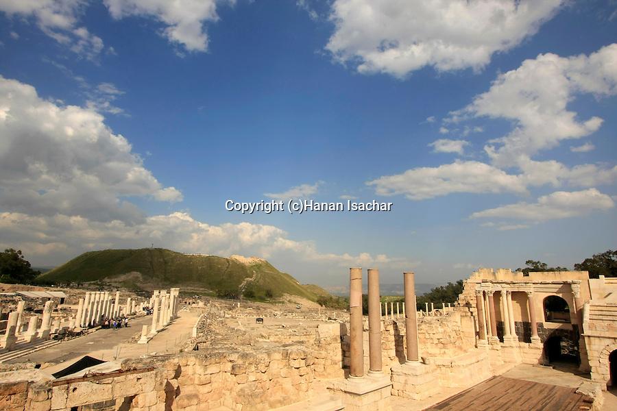 Israel, Beth Shean valley. the Roman theater of Scythopolis