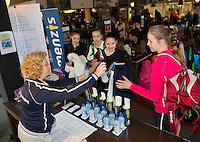 Rotterdam, The Netherlands, March 20, 2016,  TV Victoria, NOJK 14/18 years, Game control, Gila Langen<br /> Photo: Tennisimages/Henk Koster
