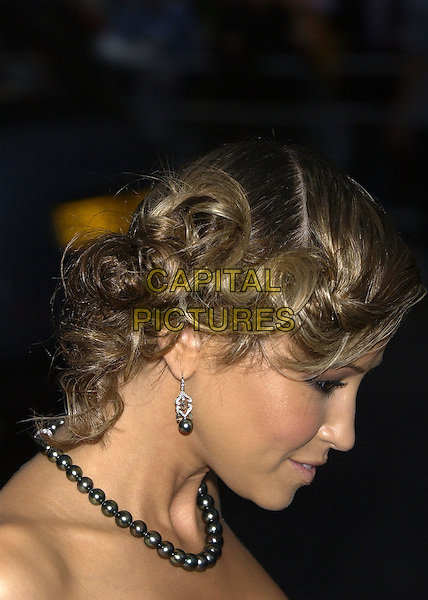 RACHEL STEVENS.GQ Men of the Year Awards, Royal Opera House, London, 7th September 2004..portrait headshot profile hair earring necklace beads pearls.Ref: PL.www.capitalpictures.com.sales@capitalpictures.com.©Capital Pictures.