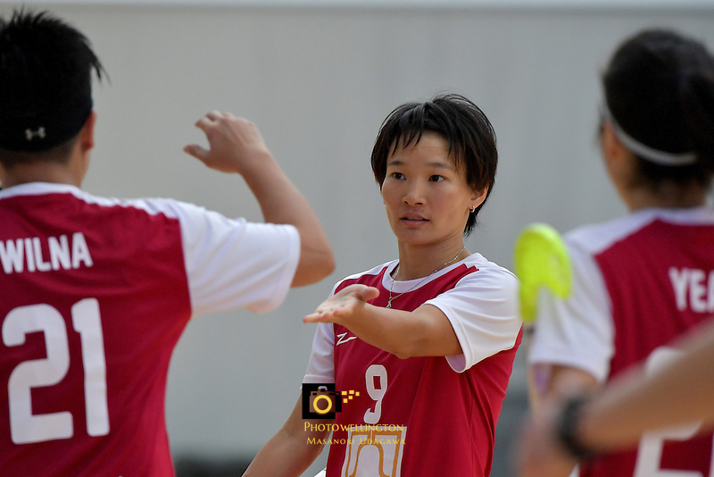 Singapore's Jill Quek in action during the World Floorball Championships 2017 Qualification for Asia Oceania Region - Singapore v Thailand at ASB Sports Centre , Wellington, New Zealand on Sunday 5 February 2017.<br /> Photo by Masanori Udagawa<br /> www.photowellington.photoshelter.com.