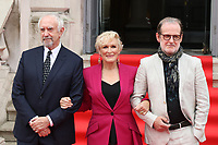 English actor Jonathan Pryce, American actress Glenn Close and Swedish Director Bjorn Runge attend the UK Premiere of The Wife at Somerset House in London. August 9, 2018. Credit: Matrix/MediaPunch ***FOR USA ONLY***<br />