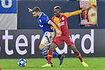 06.11.2018, Veltins-Arena, Gelsenkirchen, GER, CL, FC Schalke 04 vs Galatasaray Istanbul, DFL regulations prohibit any use of photographs as image sequences and/or quasi-video <br /> <br /> im Bild v. li. im Zweikampf Daniel Caligiuri (#18, FC Schalke 04) Henry Onyekuru (#21, Galatasaray) <br /> <br /> Foto &copy; nordphoto/Mauelshagen