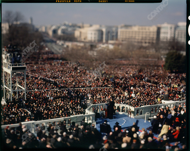 Inauguration of Barack Obama as the 44th President of the United States of America. Obama gives his inaugural address, Washington, D.C., January 20, 2009