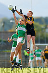 Johnny Buckley Dr Crokes in action against Billy McGuire Legion in the Quarter Final of the Kerry Senior Football Championship between Dr Crokes and Legion at Fitzgerald Stadium Killarney on Sunday.