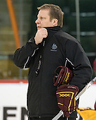 Scott Sandelin (Duluth - Head Coach) - The University of Minnesota-Duluth Bulldogs practiced on Wednesday, April 6, 2011 during the 2011 Frozen Four at the Xcel Energy Center in St. Paul, Minnesota.