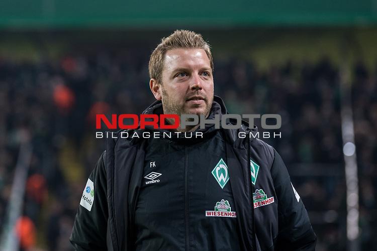 05.02.2019, Signal Iduna Park, Dortmund, GER, DFB-Pokal, Achtelfinale, Borussia Dortmund vs Werder Bremen<br /> <br /> DFB REGULATIONS PROHIBIT ANY USE OF PHOTOGRAPHS AS IMAGE SEQUENCES AND/OR QUASI-VIDEO.<br /> <br /> im Bild / picture shows<br /> Florian Kohfeldt (Trainer SV Werder Bremen), <br /> <br /> Foto © nordphoto / Ewert